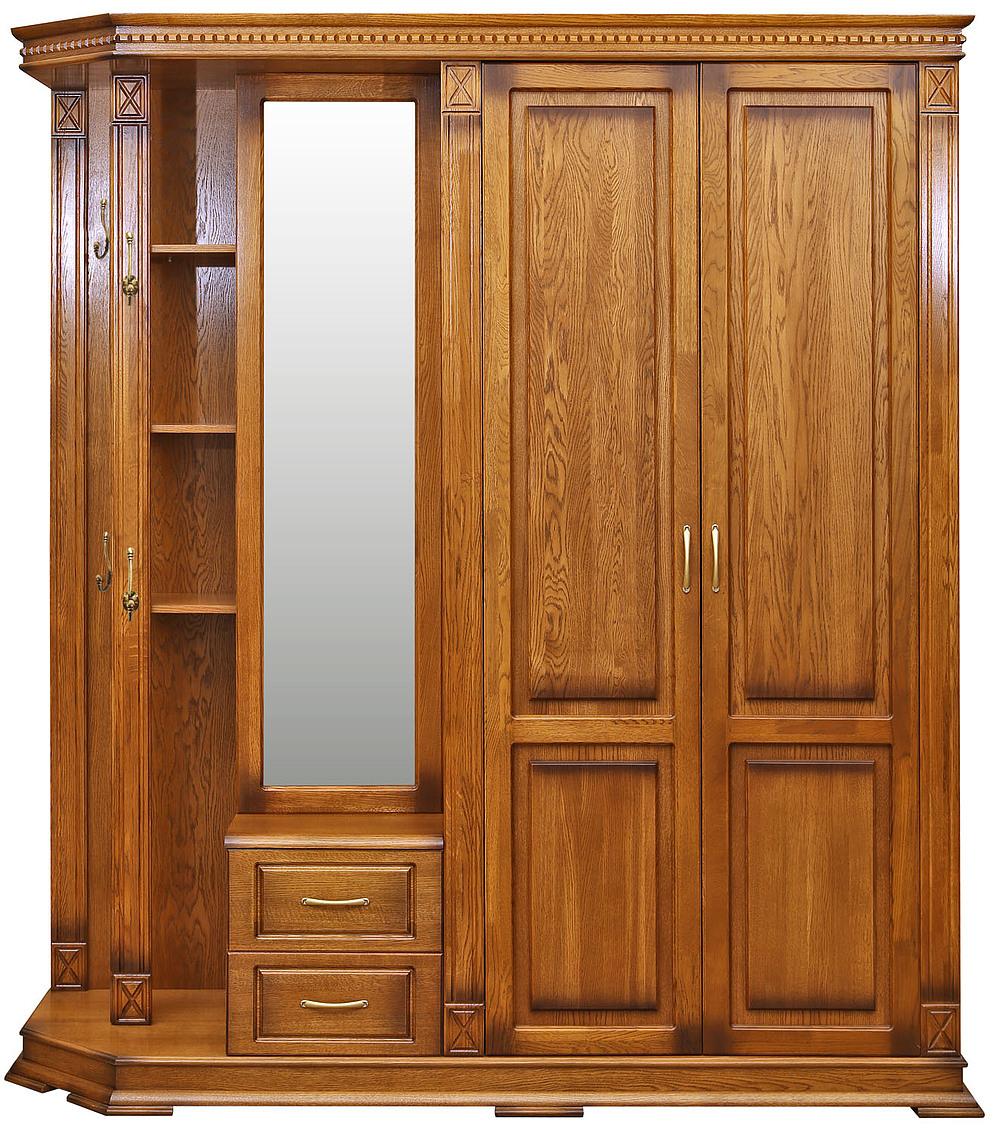 """Шкаф комбинированный для прихожей """"верди люкс 1"""" п433.01 куп."""