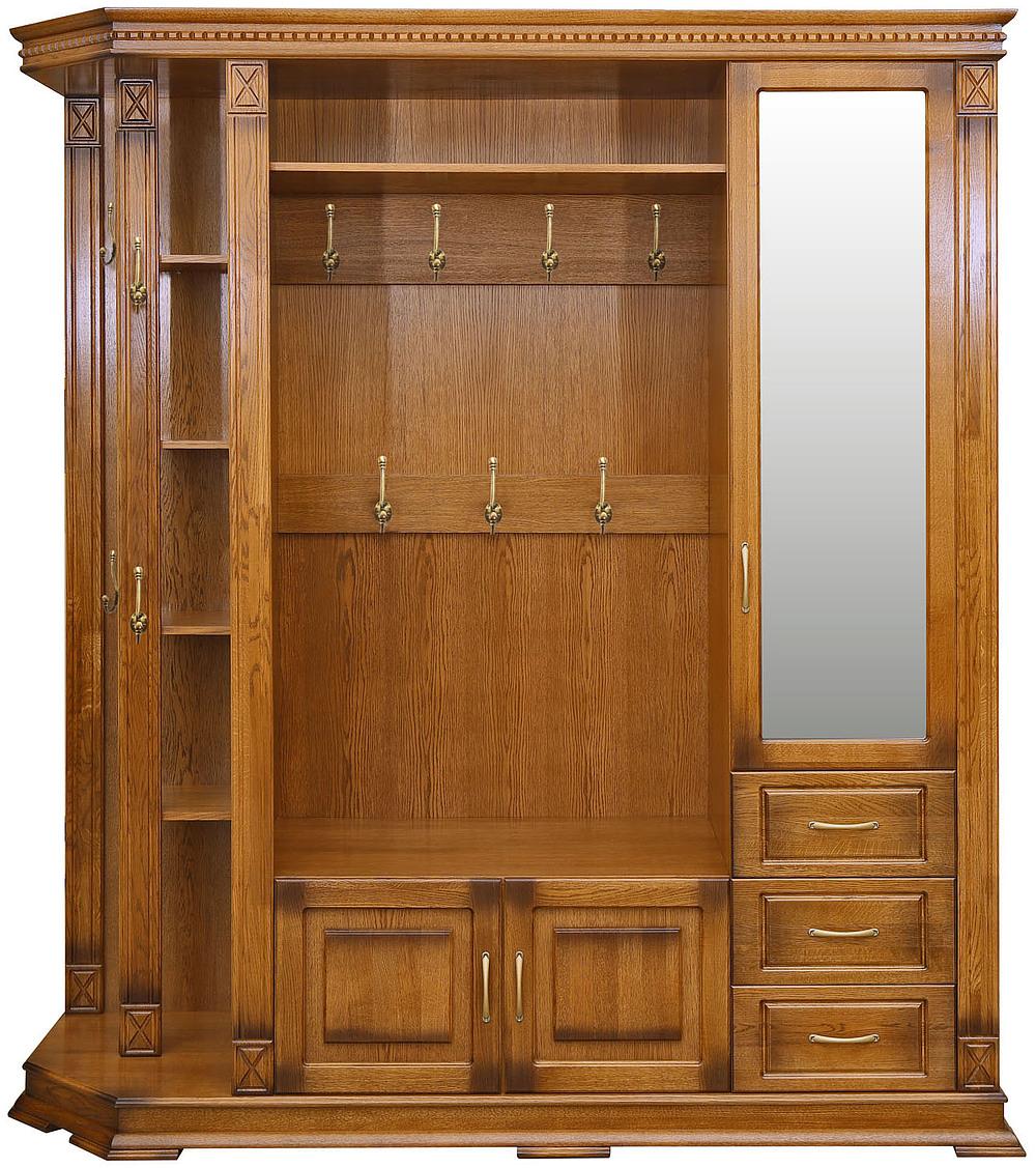 """Шкаф комбинированный для прихожей """"верди люкс 2.1"""" п433.02-0."""